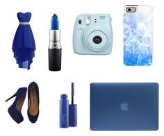 """""""blue 😍😍💙💙"""" by alyssflewin ❤ liked on Polyvore featuring Pour La Victoire, MAC Cosmetics, Fujifilm, Casetify and Incase"""