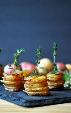 Pair these potato stacks with chicken wings on game day.