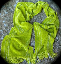 Lunar Moth Handwoven Chenille Scarf by LuCook on Etsy #handweaversofetsy #springfashion