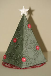 Designed by maryross: Christmas Tree box petal cone die, details and pics favor