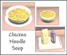 Chicken Noodle Soup, my favorite soup ever. Sims 4 Game Mods, Sims Mods, Sims 4 Skills, Sims 4 Challenges, Sims 4 Kitchen, Sims 4 Mods Clothes, Sims 4 Cc Furniture, Edible Food, Accessories