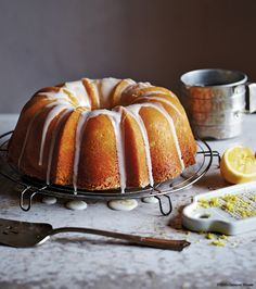 Lemon-Yogurt Poundcake from the Cabot Creamery Cookbook. I'm giving away a copy and a Cabot gift box on my blog.