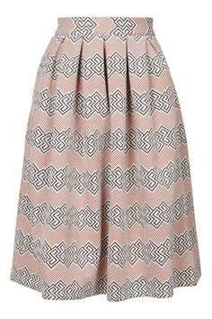 PETITE Jacquard Midi Skirt - Topshop