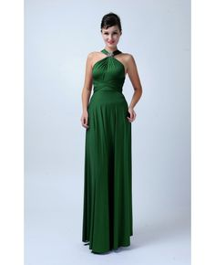 Long Infinity Bridesmaid dress in Forest