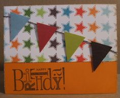 cute birthday card (others at link as well) // The Happy Scraps