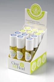 Clear My Head Roll-on Relief for headache & sinus relief! All natural aromatherapy treatments that work!
