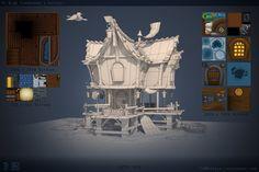 ArtStation - Ye Olde Fisherman's Outpost, Tim Moreels