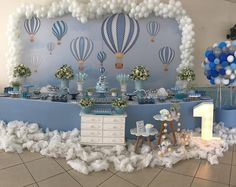 New Baby Boy Baptism Decorations Simple Ideas Baptism Decorations, Casino Party Decorations, Baby Shower Decorations For Boys, Shower Party, Baby Shower Parties, Baby Boy Shower, Balloon Birthday Themes, Baby Boy Baptism, Boy Decor