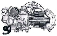 Motore Moto Guzzi Falcone