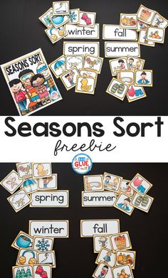 Your students will absolutely love this Seasons Sort printable! The perfect addition to your learning centers. #earlylearning #teachers #seasons