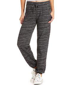 Ideology Straight-Leg Space-Dye Sweatpants - Pants & Capris - Women - Macy's