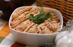 Tojásos tepertőkrém | Recept | TESCO - Főzni jó Spaghetti, Ethnic Recipes, Food, Essen, Meals, Yemek, Noodle, Eten