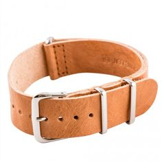 Saddle Vintage Leather NATO Strap with authentic stainless steel hardware