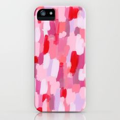 Buy Meet Me In The Red Woods - pink abstract painting modern art iPhone Case by lennaarty. Worldwide shipping available at Society6.com. Just one of millions of high quality products available.