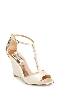 Wedding Shoes!-Badgley Mischka 'Camryn' Wedge Pump (Women) available at #Nordstrom