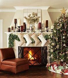 Charming Christmas Mantle