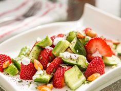 Persian Cucumber and Strawberry Salad