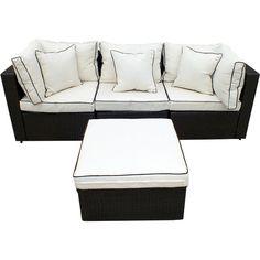 JJ International Hampton Wicker Sofa Set & Reviews   Wayfair.ca