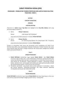 Pengertian dan Contoh Surat Perintah