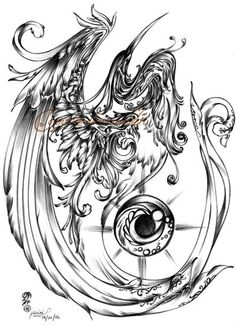 Pheonix- Ive wanted a pheonix tattoo for a while now. Maybe something like this... :)