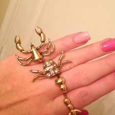 Lobster ring. $12 at charming charlies. THIS IS FABULOUS!