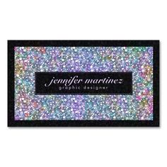 Elegant Black Colorful Purple Glitter and Sparkles Double-Sided Standard Business Cards (Pack Of 100). This is a fully customizable business card and available on several paper types for your needs. You can upload your own image or use the image as is. Just click this template to get started!