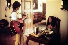 Mick & Bianca Jagger, Villa Nellcôte, during the making of Exile on Main Street, July by Dominique Tarlé. This photographs was not taken at villa Nellcôte, it was taken in New York at Carlyle Hotel Bianca Jagger, Mick Jagger, Rolling Stones, French Villa, Anita Pallenberg, Chelsea Hotel, Stone World, Dominique, Keith Richards