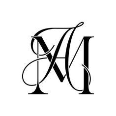 Tattoo Lettering Fonts, Lettering Design, Logo Design, Wedding Logos, Monogram Wedding, Logo Fr, Am Logo, Letter Logo, Monogram Letters