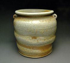 Brown Wood Fired Kitchen Caddy or Utensil Holder by YuishCeramics, $35.00
