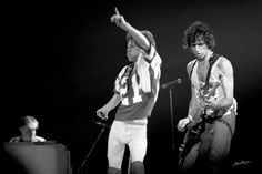 Mick Jagger, Keith Richard and Ian Stewart performing during the Rolling Stones Tattoo You Tour performance in Kentucky in 1981. These Fine Art Photos look great in a White Mat and Black Frame or decorate your home or office with a high quality Canvas, Metal, Acrylic or Wood Print.