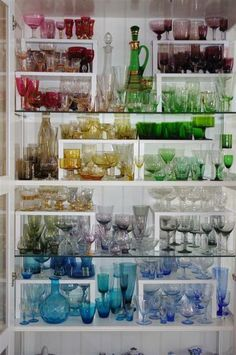 Luminous Collection of Colored Glassware - Home of Cathy Sutton, Australian Jewelry Designer