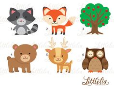 Woondland clipart forest friend clipart wood by LittleLiaGraphic