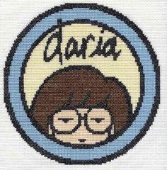 Daria Morgendorffer Cross Stitch by defiantdamsel, via Flickr