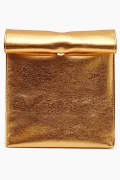 **NEW** SMK METALLIC ORANGE PAPER BAG CLUTCH via WLLWPOPUP. Click on the image to see more!