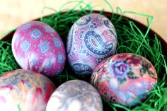 Tie-Dyed Easter Eggs--saving this for next Easter!