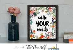 Custom Printable Art Instant Download Wall Art Motivational Quote Bible Verse Literary Quote Home Decor Nursery Art Print Lyric Art Print
