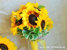 Bridal bouquet - sunflowers
