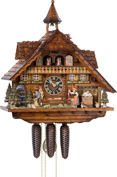 The competition 'Black Forest Clock of the Year' presents clocks who represent the Black Forest life in a elaborate and detailed fashion. Description from cuckoopalace.com. I searched for this on bing.com/images