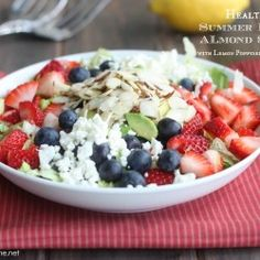 Healthy summer berry salad ...looks delicious!