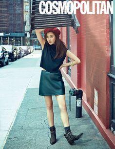 Kang Sora for Cosmopolitan Korea October 2015 - kStarGlamour