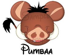 Pumbaa from Lion King inspired Mickey Head digital printable file DIY