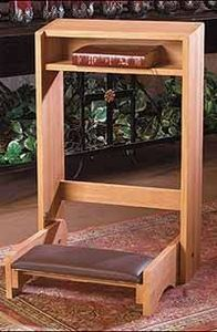 How to Build a Prayer Kneeler; I'd like mine to have a deeper 'nook' for my prayer book(s), rosaries, etc. Please, will you build that for me? Prayer Closet, Prayer Room, Carpentry Projects, Home Projects, Home Altar Catholic, Woodworking Desk Plans, Woodworking Garage, Youtube Woodworking, Woodworking Patterns