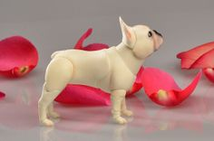 BJD dog French Bulldog for MSD dolls 7 cm at the by ElleoDolls