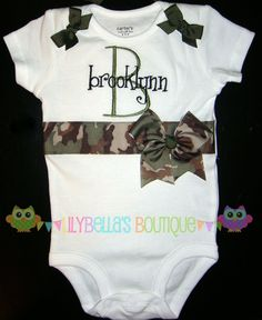 Baby girl monogrammed embroidered onesie  by LilyBellasBoutique, $24.95