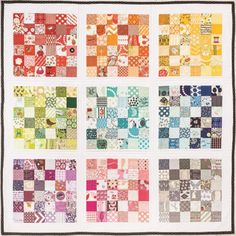 Summer Tourist Quilt Project by Heidi Staples. Such a great scrap buster!
