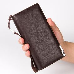 Baellerry Business Men Wallets New 2017 Solid PU Leather Long Wallet Portable Money Cash Purses Casual Wallets Male Clutch Bag