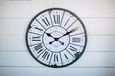 White Paris Clock