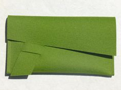 ArtAK GREEN Felt Clutch