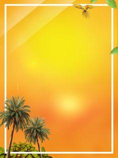 Fondo de verano escénico viaje playa Árbol de coco Playa El
