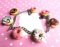 Fun Donut Bracelet Food Jewelry food bracelet by beadpassion
